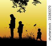 vector tree silhouette   Shutterstock .eps vector #23283370