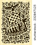 ethnic tribal native... | Shutterstock .eps vector #232847125
