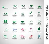 garden icons set   isolated on... | Shutterstock .eps vector #232851562