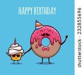 happy birthday   Shutterstock .eps vector #232855696