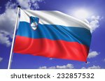 slovenia flag with fabric... | Shutterstock . vector #232857532