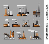 industrial factory icons on... | Shutterstock .eps vector #232860526
