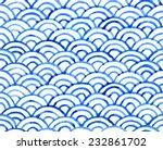 watercolor retro fish scales...