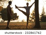 woman yoga trainer... | Shutterstock . vector #232861762