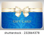 blue gift card with damask... | Shutterstock .eps vector #232864378