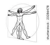 leonardo's vitruvian man | Shutterstock .eps vector #23286478