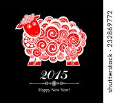 2015 new year card with red... | Shutterstock .eps vector #232869772