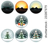 set of vector  globes | Shutterstock .eps vector #23287375