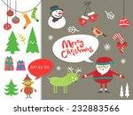 christmas set | Shutterstock .eps vector #232883566