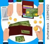businessmen hands with money....   Shutterstock .eps vector #232890352