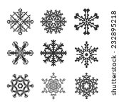 snowflakes flat icon set... | Shutterstock .eps vector #232895218