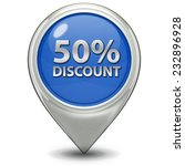 discount 50 pointer icon on... | Shutterstock . vector #232896928