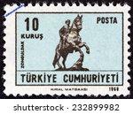turkey   circa 1968  a stamp... | Shutterstock . vector #232899982