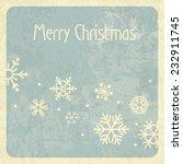 merry christmas retro design | Shutterstock .eps vector #232911745