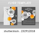 abstract flyer template design... | Shutterstock .eps vector #232912018