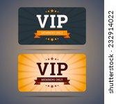 vip club card design templates... | Shutterstock .eps vector #232914022