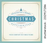 christmas retro typography and... | Shutterstock .eps vector #232917286