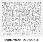 hand drawn vintage floral...   Shutterstock .eps vector #232920418