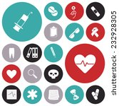 flat design icons for medical. | Shutterstock . vector #232928305