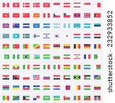 flag of world. vector icons | Shutterstock .eps vector #232933852
