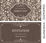 invitation cards in an old... | Shutterstock .eps vector #232934902