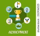 business  achievment and... | Shutterstock .eps vector #232936525