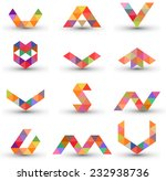 set of abstract design elements ... | Shutterstock .eps vector #232938736