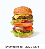 one large double cheeseburger | Shutterstock . vector #23294275