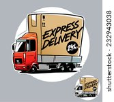 express delivery truck. cartoon ... | Shutterstock .eps vector #232943038