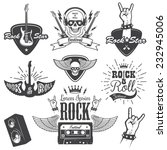 set of rock and roll music... | Shutterstock .eps vector #232945006