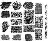 vector set of ink lines  set of ... | Shutterstock .eps vector #232950796