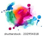 abstract watercolor background | Shutterstock .eps vector #232954318
