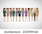 group of business women  ... | Shutterstock .eps vector #232959418