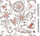 vintage adventures  seamless... | Shutterstock .eps vector #232960552