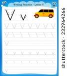writing practice letter v ...