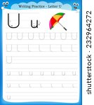 writing practice letter u ...