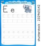 Writing Practice Letter E ...