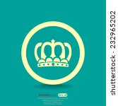 crown vip sign  web icon.... | Shutterstock .eps vector #232965202