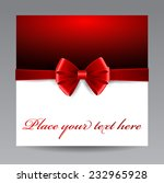 greeting card with red bow | Shutterstock .eps vector #232965928