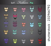 underwear set   isolated on... | Shutterstock .eps vector #232966792