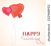 happy valentines day card.eps10 ... | Shutterstock .eps vector #232968952