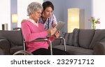 elderly patient and asian nurse ... | Shutterstock . vector #232971712