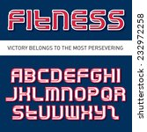 fitness and gym vector font... | Shutterstock .eps vector #232972258