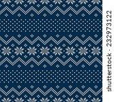 seamless knitted pattern.... | Shutterstock .eps vector #232973122