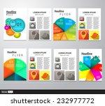 set of flyer  brochure design... | Shutterstock .eps vector #232977772
