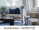 luxury living room with sofa on ... | Shutterstock . vector #232987732