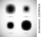 set of halftone vector... | Shutterstock .eps vector #232989616