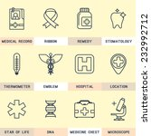 set flat icons  medicine ... | Shutterstock .eps vector #232992712