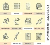 set of vector icons in flat... | Shutterstock .eps vector #232992715