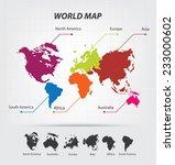 world map vector illustration | Shutterstock .eps vector #233000602